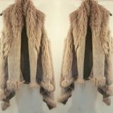 Vesta de dama lunga cu blanita