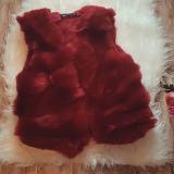 Vesta scurta de blana Snow Bordo