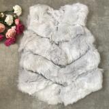 Vesta de blana Elsa gri deschis