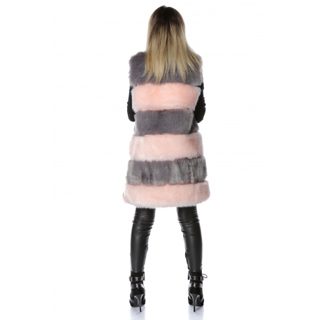 Vesta lunga de blana Maya roz