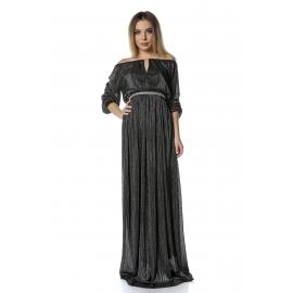 Rochie lunga din voal Glamour negru