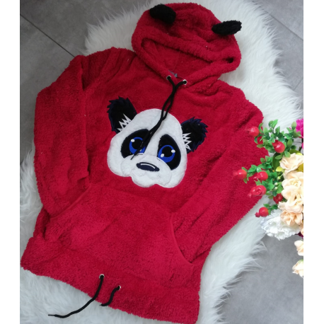Hanorac cu urechi pufoase Panda
