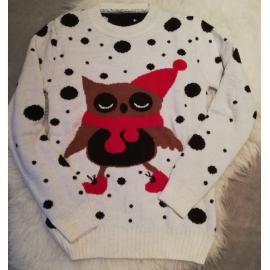 Pulover tricotat pentru Craciun si Sarbatori cu Puisor