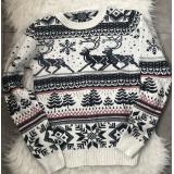 Pulover tricotat cu motive de Sarbatori
