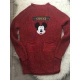 Pulover tricotat Funny Micky cu fir auriu
