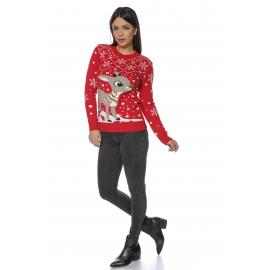 Pulover tricotat motive iarna si Craciun Lovely