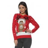 Pulover tricotat pentru Craciun si Sarbatorile de iarna Merry