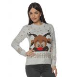 Pulover tricotat pentru Craciun si Sarbatorile de iarna cu Ren