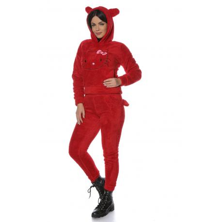 Set Cocolino Hello Kitty bordo