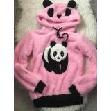 Hanorac de dama Panda Pink