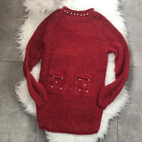 Pulover tricotat cu perle Chris