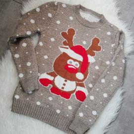 Pulover tricotat cu model Ren