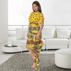 Set Rochii Mama-Fiica cu model gypsy Sonia galben