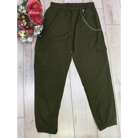 Pantaloni casual-sport cu lant