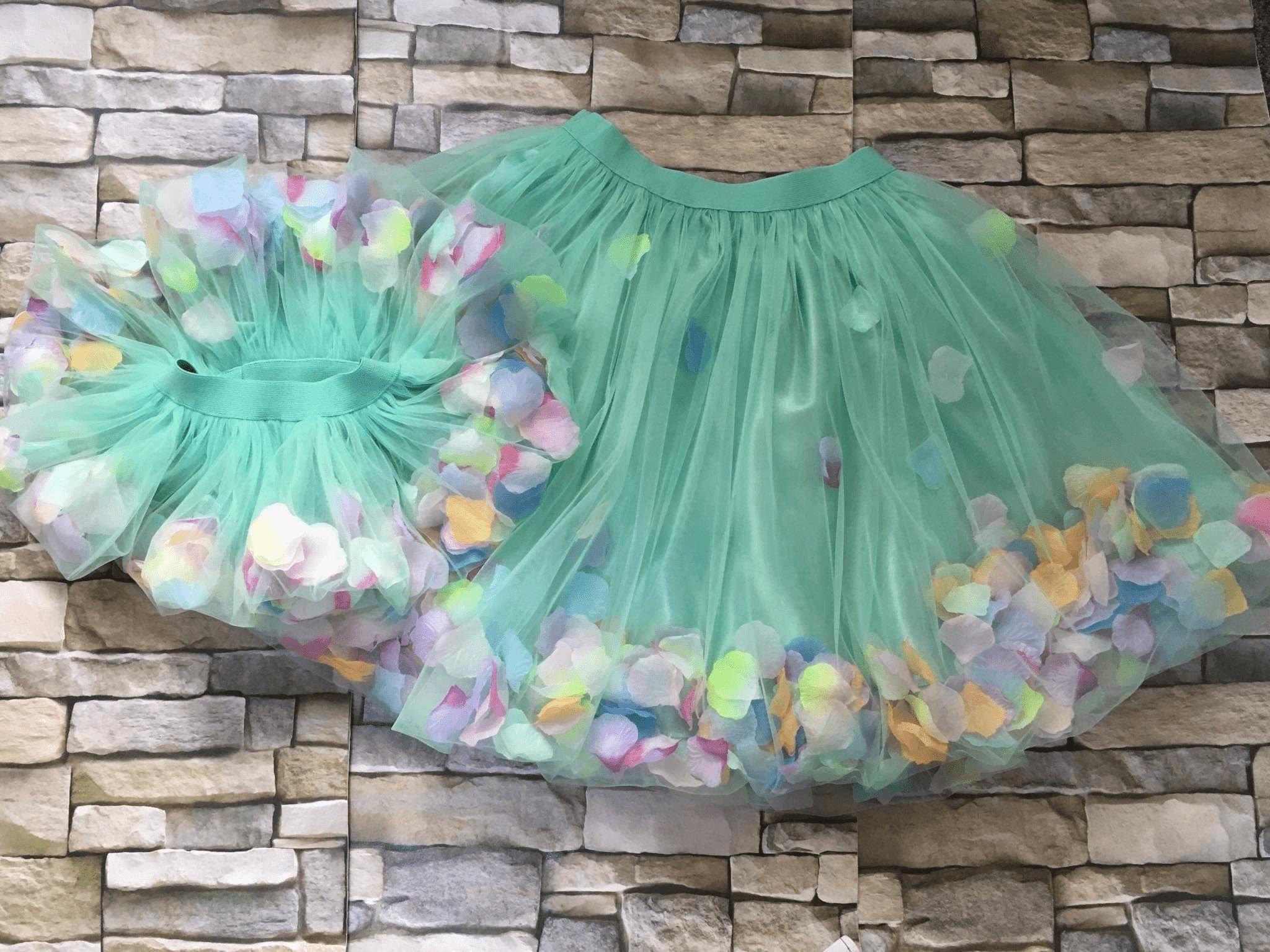 Set fusta tull Mama-Fiica cu petale