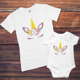 Set Tricouri Mama-fiica Unicorn