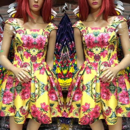 Rochie clos cu imprimeu floral Sanziana