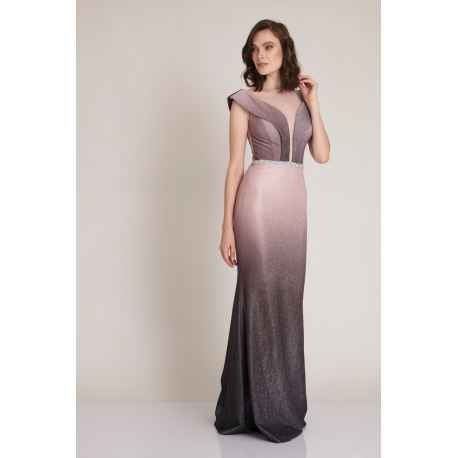 Rochie lunga tip sirena Ivette roz