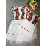Set rochii Mama-Fiica model Gypsy cu tull Ileana