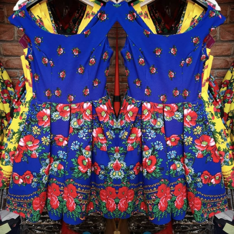 Rochie clos cu imprimeu Gypsy albastru