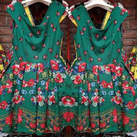 Rochie clos cu imprimeu Gypsy verde