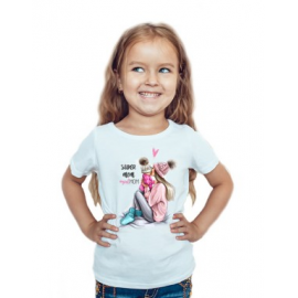 Tricou copil Super mom girl