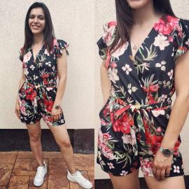 Salopeta scurta cu model floral Summer