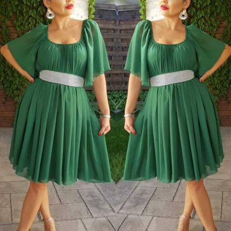 Rochie din voal Serena verde