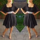 Rochie din voal Serena negru