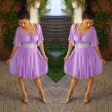 Rochie din voal Serena lila