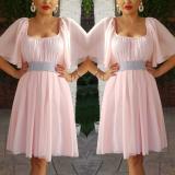 Rochie din voal Serena roz pal