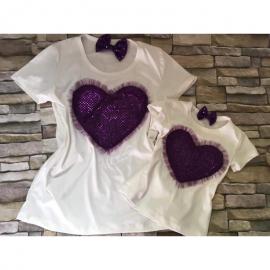 Set Tricouri Mama-Fiica inima Carina