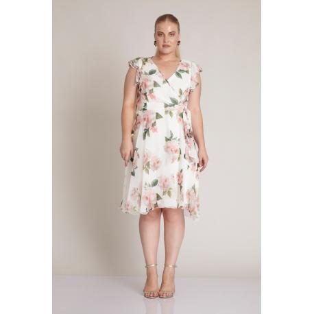 Rochie clos Plus Size cu print floral Amara