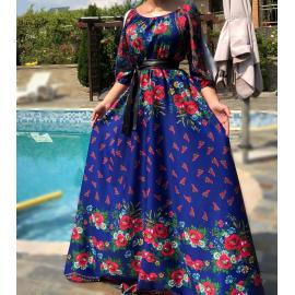 Rochie lunga model Gypsy Tabita