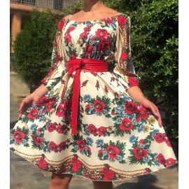 Rochie clos scurta cu print Gypsy