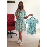 Set Rochii Mama-Fiica Menta cu minifloricele