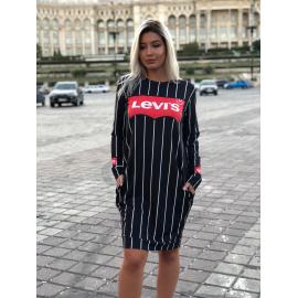 Rochie midi Levi`s cu dungi