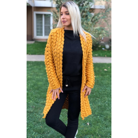 Cardigan lung impletit Jasmine