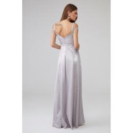 Rochie lunga cu aplicatii Sara roz