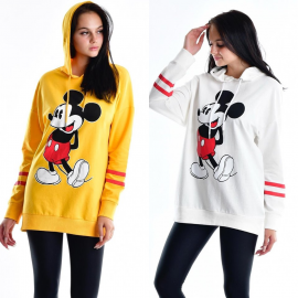 Bluza scurta model Mickey Mouse