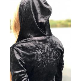Trening dama din catifea Moda negru