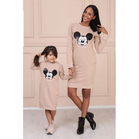 Set Rochii Mama-Fiica model Mickey Mouse