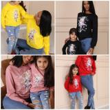 Set bluze Mama-Fiica cu desene