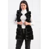 Vesta lunga de blana Plus-Size Xenia