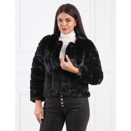 Jacheta scurta de blana Corina negru
