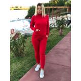 Trening tricot cu buzunare Rosu