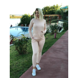 Trening tricot cu buzunare Roz pal