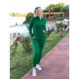 Trening tricot cu buzunare Verde