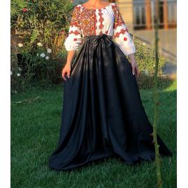 Rochie lunga cu motive geometrice Matilda bleumarin