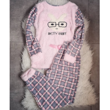 Pijama de dama Pretty Rabbit roz